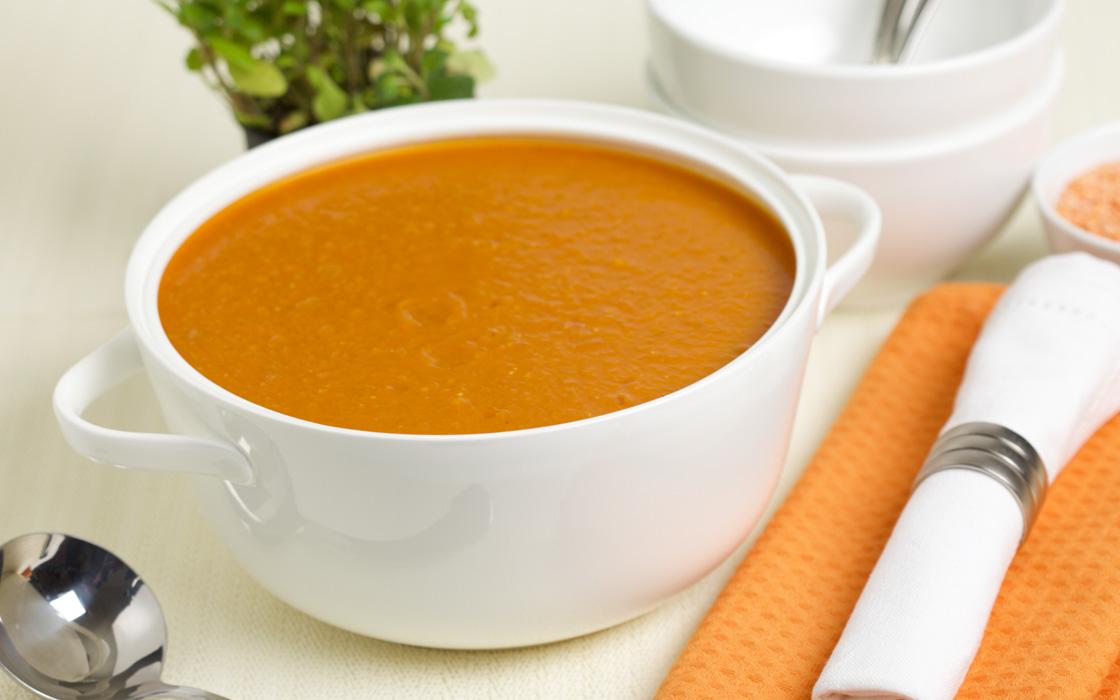 vegetable and red lentil soup