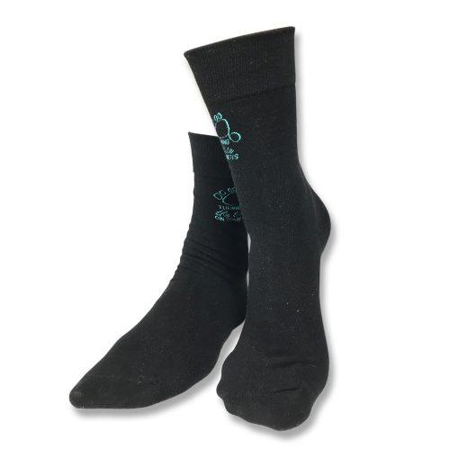 Black socks with logo unisex
