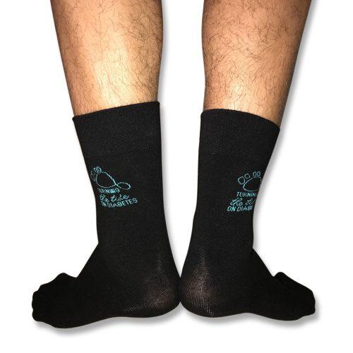 Black socks unisex