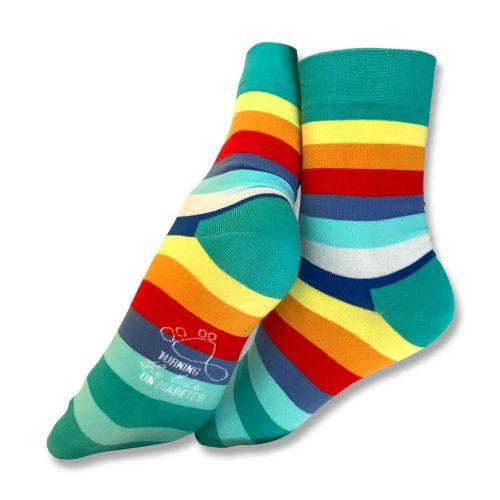 Stripey sock unisex