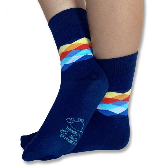 Diamond wave socks unisex